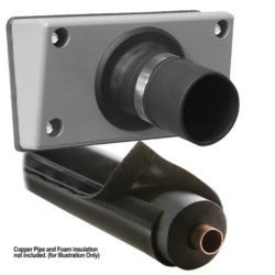 "PRO-SYSTEM KIT - TITAN GS30 Outlet for Siding/E-FLEX GUARD 72C (3/4"" Insulation Wall Thickness Diameter) Gray/Black"