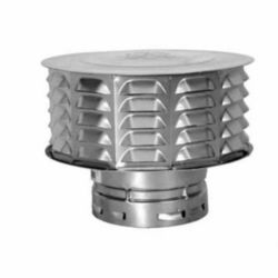 "AmeriVent 4ECW 4"" Snap-Lock Louvered Cap"
