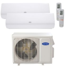Carrier® Infinity 2 Ton 2 Zone Mini Split High Wall Heat Pump System R-410a 208-230V