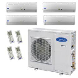 Carrier® Performance 2 1/2 Ton 4 Zone Mini Split High Wall Heat Pump System R-410a 208-230 VAC