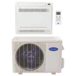 "Carrier® Performance 3/4 Ton Mini Split Floor Console Heat Pump System (1/4""-3/8"" line set) R-410a 208-230 VAC"