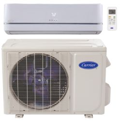 "Carrier® Performance  1 Ton Mini Split High Wall Heat Pump (1/4""-1/2"" line set) R-410a 208-230 VAC"