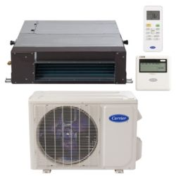 "Carrier® Performance 1 Ton Mini Split Ceiling Ducted Heat Pump System (1/4""-1/2"" line set) R-410a 208-230 VAC"
