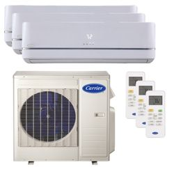 Carrier® Performance 2 1/4  Ton 3 Zone Mini Split High Wall Heat Pump System R-410a 208-230 VAC