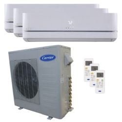Carrier® Performance 3  Ton 3 Zone Mini Split High Wall Heat Pump System R-410a 208-230 VAC