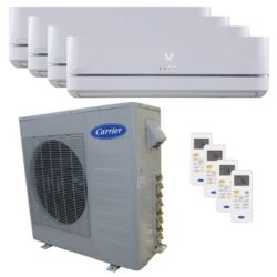 Carrier® Performance 3  Ton 4 Zone Mini Split High Wall Heat Pump System R-410a 208-230 VAC