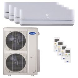 Carrier® Performance 4  Ton 4 Zone Mini Split High Wall Heat Pump System R-410a 208-230 VAC
