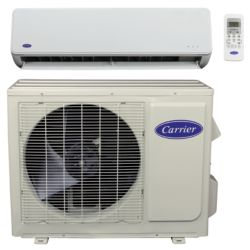 "Carrier® Comfort 1 1/2 Ton Mini Split High Wall Heat Pump System (1/4""-1/2"" line set) R-410a 208-230 VAC"