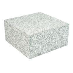 "Air Handler Block, EPS, Concrete Grey, (8"" X 8"" X 4"")"