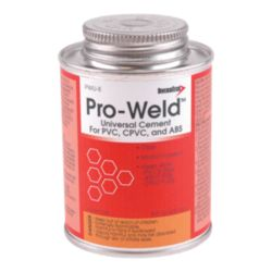 DiversiTech® - PWU-8  Pro-Weld Brush-TopUniversal  PVC/ABS/CPVC Cement - 8 oz.