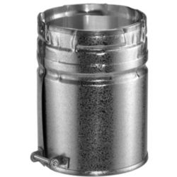 Round Gas Vent Collection Aluminum Male Adaptor with 4 Inch Inner Diameter