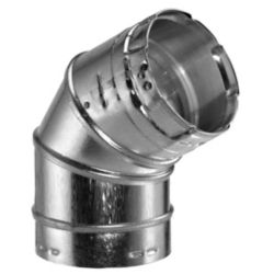 Aluminum 45/60 Degree Adjustable Elbow with 4 Inch Inner Diameter