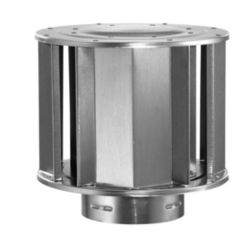 Aluminum High-Wind Cap with 4 Inch Inner Diameter