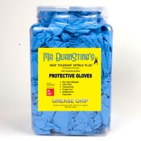 "Grease Grip USA - G05360 - Mr Burnstings - Light Blue - Nitrile Gloves  12"" Cuff -XLarge (50 Pcs)"