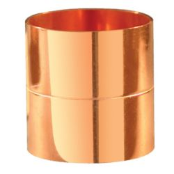 "1/4"" Rolled Stop Coupling C x C (Copper Fitting)"
