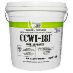 Hardcast - CCWI-181 Indoor/Outdoor Water Based Duct Sealant White, 1 Gallon