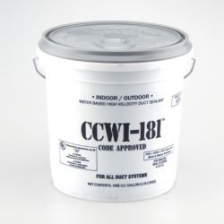 Hardcast/Carlisle 304148 CCWI-181 Gray Indoor/Outdoor Water Based Duct Sealant 1 gal.