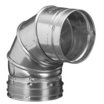 "Hart & Cooley 016108 4"" 90º B-Vent Adjustable Elbow"