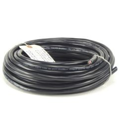 Honeywell - 14/4 Stranded THHN 600V Tray Cable Black Minisplit Wire Black - 50' Coil