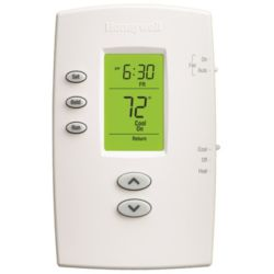 Pro 2000 Programmable Vertical Thermostat, 1Heat/1Cool
