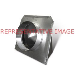 """4"""" (Galv) Low-Profile Roof Vent W/Damper & Screen"""