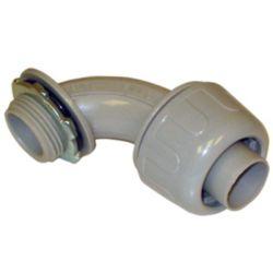 "Liquid Tight PVC Flexible Non Metallic 1/2"" 90 Degree Connector"