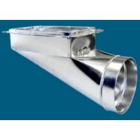 """14"""" x 8"""" x 9"""" Center-End Flanged Register Boots"""
