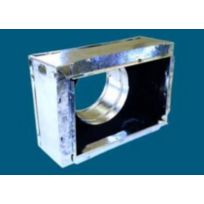 "8"" x 4"" x 5"" #641R6"" Insulated Box with Snap Rail Flange"