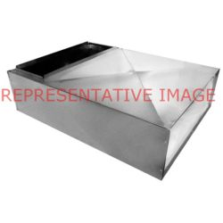 "M&M - PL20X20X48 20"" x 20"" x 48"" Metal Plenum Non-Insulated"