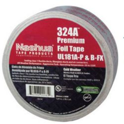 "Nashua 324A UL181A and B Cold Weather Premium Foil Tape 2 1/2"" x 60YD"