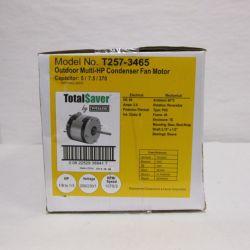 Totaline® - T257-3465  TotalSaver Condenser Fan Motor Multi-Horsepower 1/6-1/3 HP 208/230V 2.6 FLA 1075 RPM