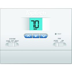TopTech TT-N-411 Non-Programmable Thermostat 1 Heat/1 Cool