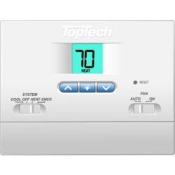 TopTech TT-N-421 Non-Programmable Thermostat 2 Heat/1 Cool