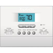 TopTech TT-P-411 5-2 Day Programmable Thermostat 1 Heat/1 Cool