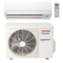 Carrier© Toshiba Ductless System 12,000 Btu Up to 23 Seer Single Zone Heat Pump (Matches EKV High Wall) 220v
