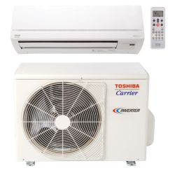 "Carrier® - Toshiba 17,000 Btu Mini Split High Wall Heat Pump System (1/4""-1/2"" line set) R-410a 208-230 VAC"