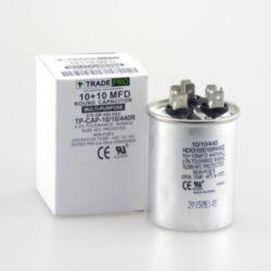 TRADEPRO® - TP-CAP-10/10/440R  10+10 MFD 440 Volt  Round Run Capacitor