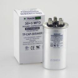 TRADEPRO® - TP-CAP-30/5/440R  30+5 MFD 440 Volt Round Run Capacitor