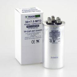 TRADEPRO® - TP-CAP-30/7.5/440R  30+7.5 MFD 440 Volt Round Run Capacitor