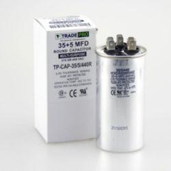 TradePro® - 35+5 MFD 440 Volt Round Run Capacitor