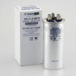 TRADEPRO® - TP-CAP-35/7.5/440R  35+7.5 MFD 440 Volt Round Run Capacitor