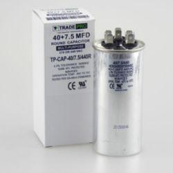 TRADEPRO® - TP-CAP-40/7.5/440R  40+7.5 MFD 440 Volt Round Run Capacitor
