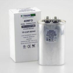 TRADEPRO® - TP-CAP-40/440  40 MFD 440 Volt Oval Run Capacitor