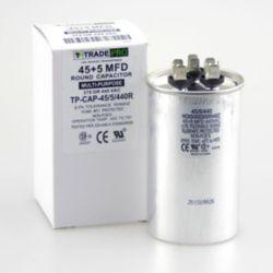 TRADEPRO® - TP-CAP-45/5/440R  45+5 MFD 440 Volt Round Run Capacitor