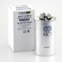 TRADEPRO® - TP-CAP-45/7.5/440R  45+7.5 MFD 440 Volt Round Run Capacitor