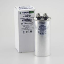 TRADEPRO® TP-CAP-45/440R Round Run Capacitor 45 MFD 440V