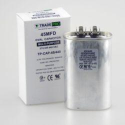 TRADEPRO® - TP-CAP-45/440  45 MFD 440 Volt Oval Run Capacitor