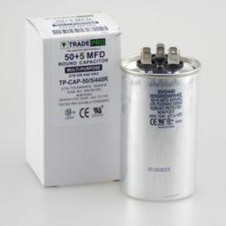 TRADEPRO® - TP-CAP-50/5/440R  50+5 MFD 440 Volt Round Run Capacitor