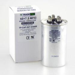 TRADEPRO® - TP-CAP-50/7.5/440R  50+7.5 MFD 440 Volt Round Run Capacitor
