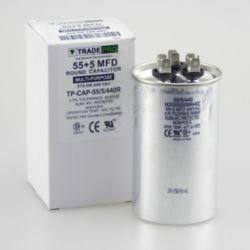 TRADEPRO® - TP-CAP-55/5/440R  55+5 MFD 440 Volt Round Run Capacitor